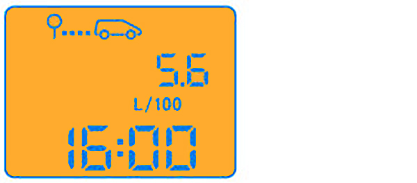 средний расход топлива (в л/100 км) с момента последнего обнуления бортового компьютера.