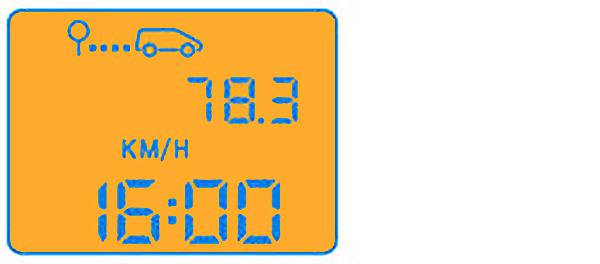 Средняя скорость движения автомобиля (в км/ч) с момента последнего обнуления бортового компьютера.