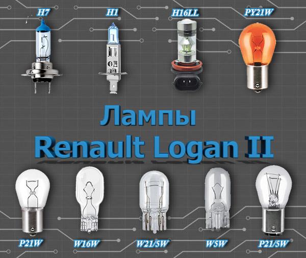 Лампы Renault Logan II