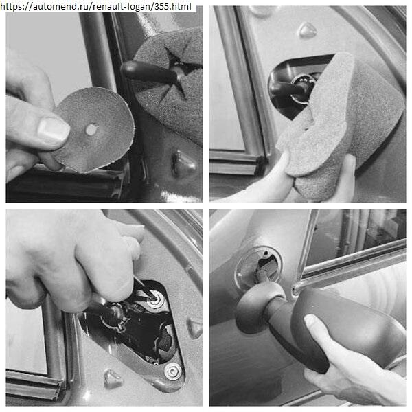 Снятие наружного зеркала Renault Logan
