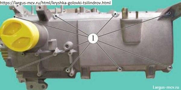 Снятие крышки головки цилиндров
