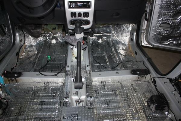 Звукоизоляция Renault Logan 2