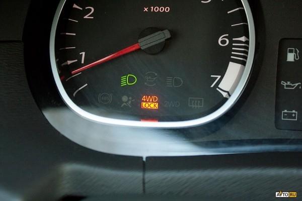 Режим 4WD LOCK Renault Duster