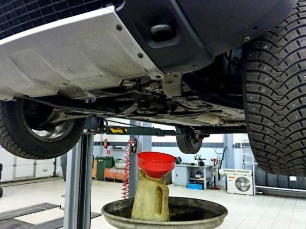Меняем масло в АКПП Renault Duster