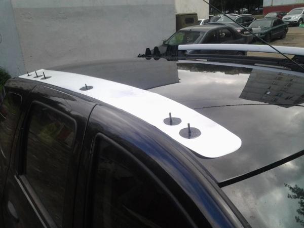 Устанавливаем рейлинги на крышу Duster