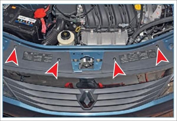 Замена переднего бампера Renault Logan 2