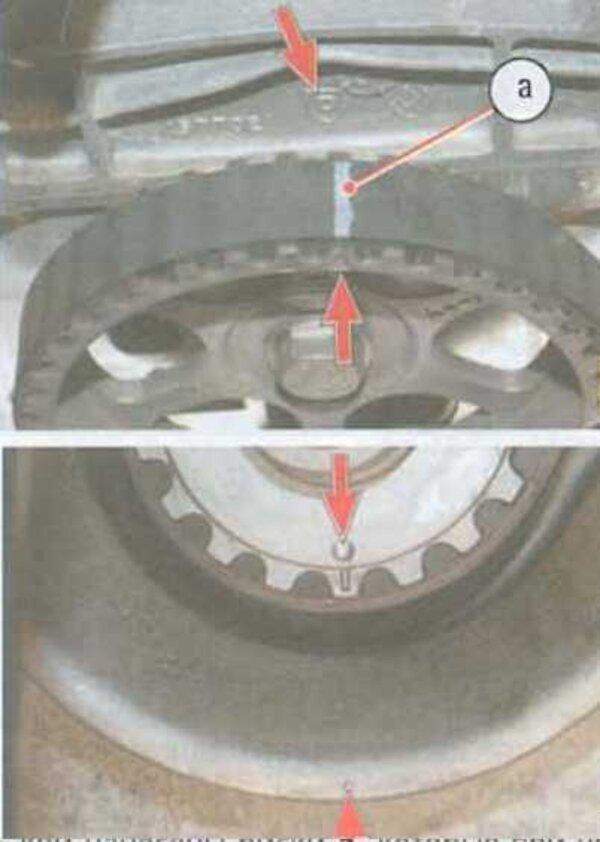 Установка поршня 1 цилиндра в ВМТ