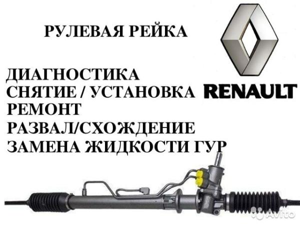 Рулевая рейка Renault Logan