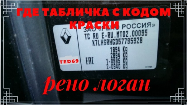 Код краски Renault logan