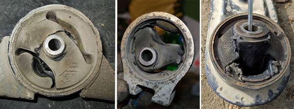 поломки опоры двигателя