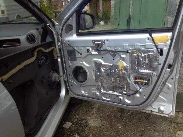 Звукоизоляция дверей Renault Logan