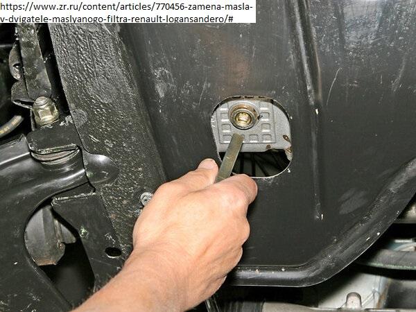 замена масла в моторе Рено Логан 1