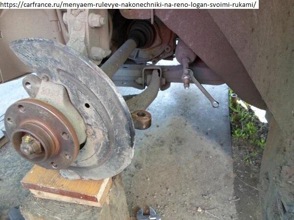 Замена рулевых наконечников Рено Логан