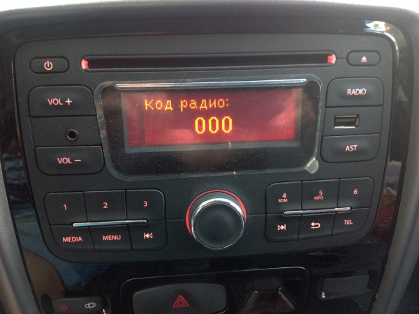 Код магнитолы Renault Duster