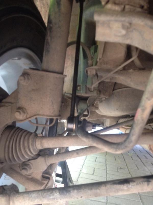 Меняем передние стойки стабилизатора Renault Duster