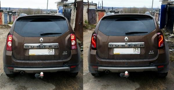Передняя и задняя оптика Renault Duster Передняя и задняя оптика Renault Duster