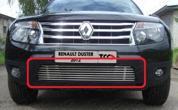 Снимаем нижнюю решетку радиатора на Renault Duster